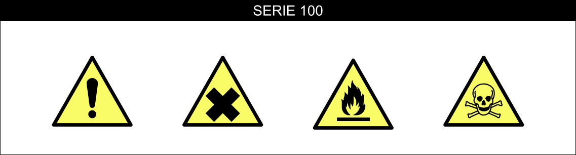 CARTELLI SEGNALATORI PERICOLO SERIE 100