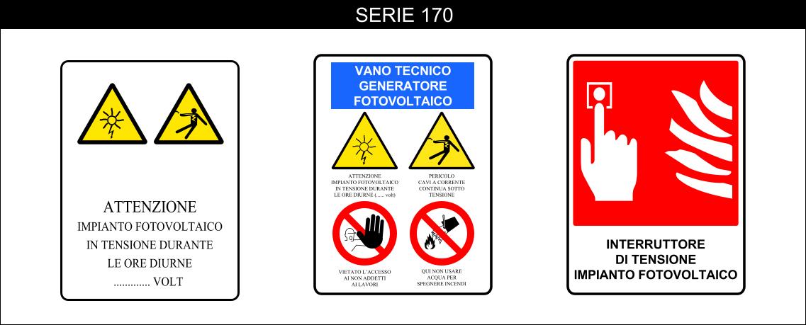 cartelli segnalatori di pericolo serie 170