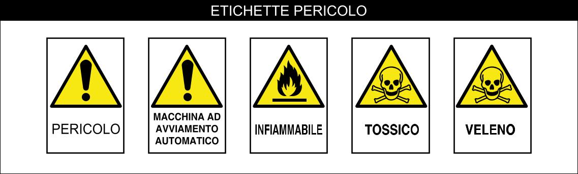 ETICHETTE SERIE PERICOLO