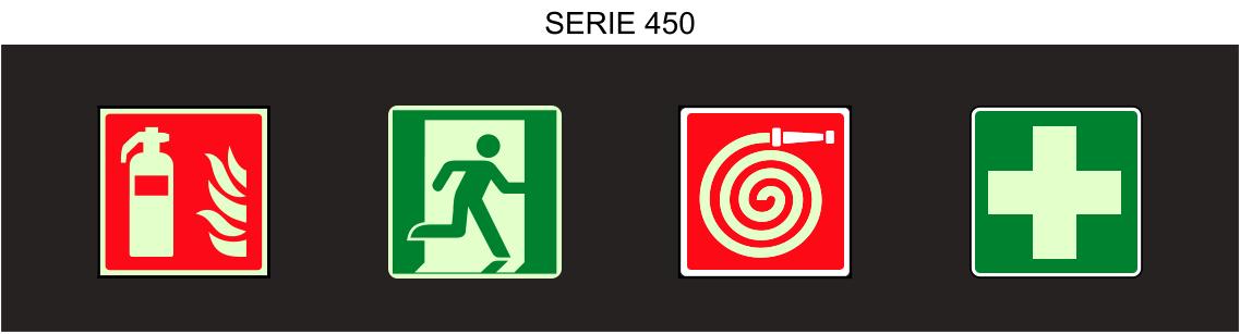 cartelli antincendio luminescenti serie 450