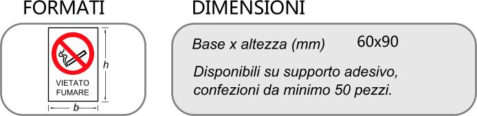 DIMENSIONI ETICHETTE DIVIETO