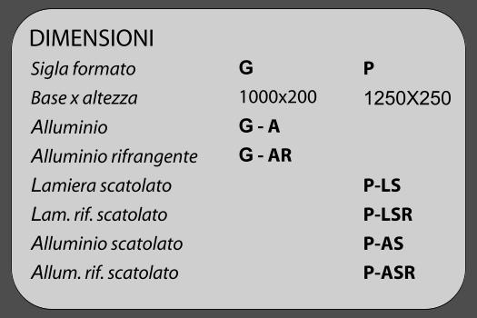 DIMENSIONI SEGNALETICA SICUREZZA SERIE 455